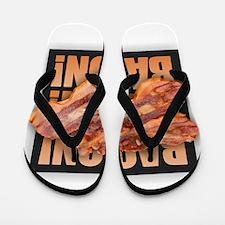 Bacon Bacon Bacon Flip Flops