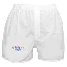 My Daddy Is A Lawyer (PASTEL) Boxer Shorts