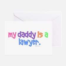 My Daddy Is A Lawyer (PASTEL) Greeting Card