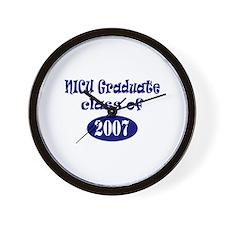 NICU Graduate Class of 2007 - Blue Wall Clock