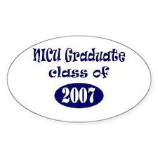 NICU Graduate Class of 2007 - Blue Oval Decal