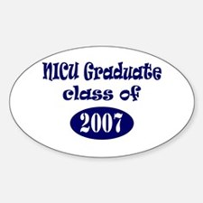 NICU Graduate Class of 2007 - Blue Oval Decal