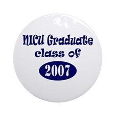 NICU Graduate Class of 2007 - Blue Ornament (Round