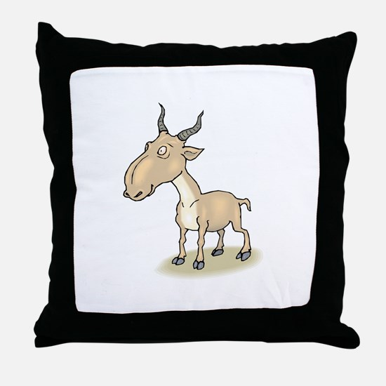 Gnu cartoon Throw Pillow