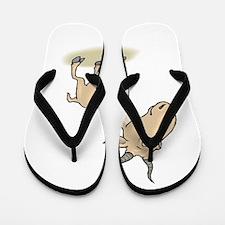Gnu cartoon Flip Flops