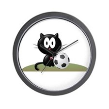 Soccer Kitty Wall Clock
