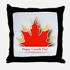 Funny Canada day Throw Pillow