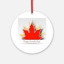 Cute Canada day Round Ornament