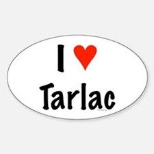 I love Tarlac Oval Decal