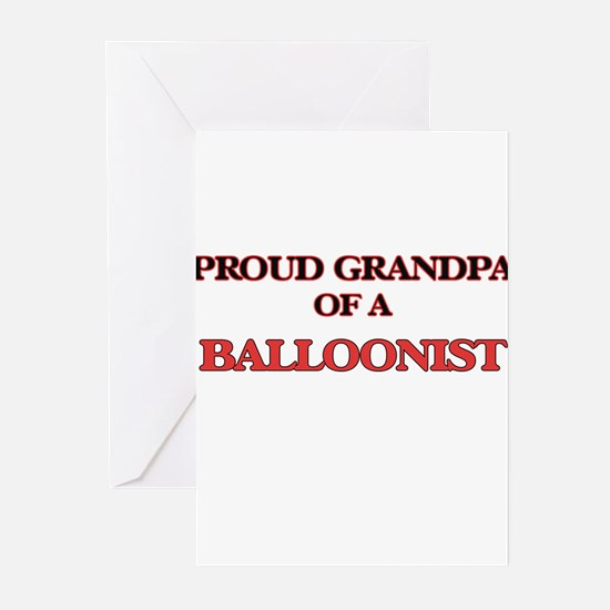 Proud Grandpa of a Balloonist Greeting Cards