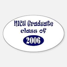 NICU Graduate Class of 2006 - Blue Oval Decal