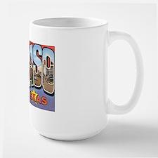 El Paso TX Postcard Large Mug