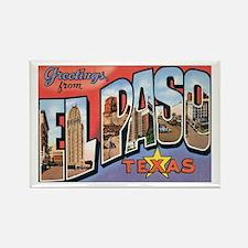 El Paso TX Postcard Rectangle Magnet
