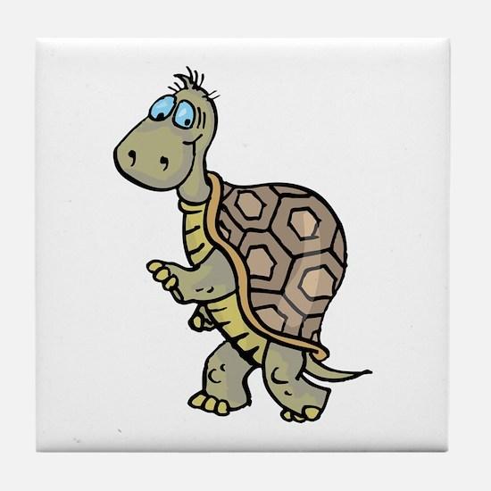 Turtle Walking Tile Coaster