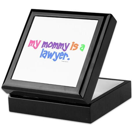 My Mommy Is A Lawyer (PASTEL) Keepsake Box