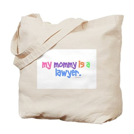 My Mommy Is A Lawyer (PASTEL) Tote Bag