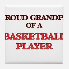 Proud Grandpa of a Basketball Player Tile Coaster