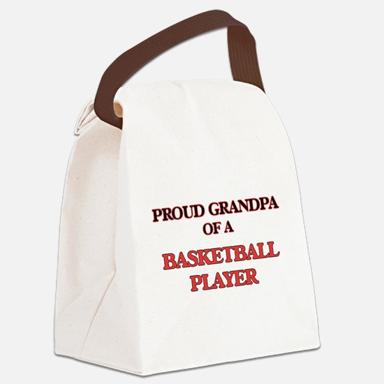 Proud Grandpa of a Basketball Pla Canvas Lunch Bag