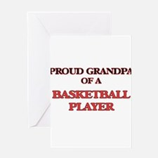 Proud Grandpa of a Basketball Playe Greeting Cards
