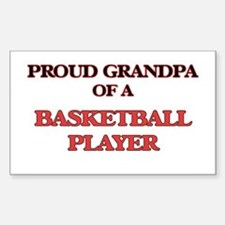Proud Grandpa of a Basketball Player Decal