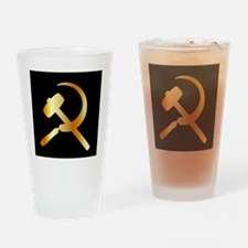 Unique Hammer and sickle Drinking Glass