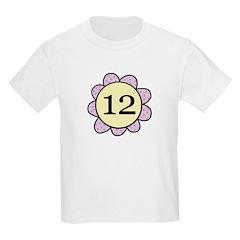 Twelve Purple/yellow flower T-Shirt