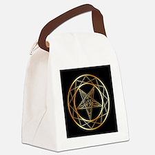 Cute Black devil Canvas Lunch Bag