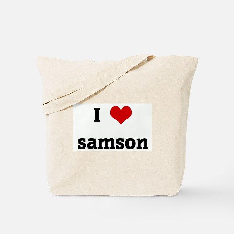 I Love samson Tote Bag