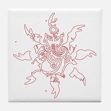 Ganesh Graphic Tile Coaster