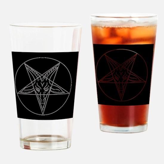 Funny Pentagram Drinking Glass