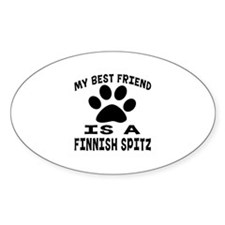 Finnish Spitz Is My Best Friend Decal