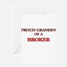 Proud Grandpa of a Broker Greeting Cards