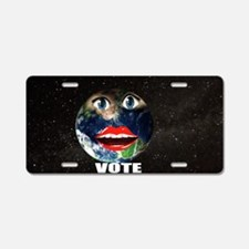 Funny Speak out Aluminum License Plate