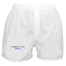 My Mommy & Daddy Are Lawyers (PASTEL) Boxer Shorts