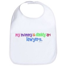 My Mommy & Daddy Are Lawyers (PASTEL) Bib