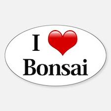 I Love Bonsai Oval Decal