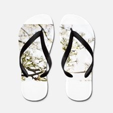 White Blossoms II Flip Flops