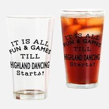 Highland Dance Designs Drinking Glass