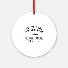 Highland Dance Designs Round Ornament