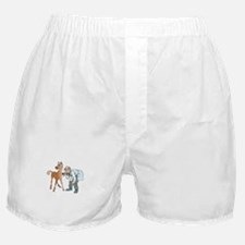 Veterinarian doctor with horse Boxer Shorts
