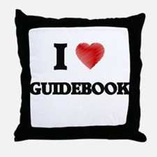 I love Guidebook Throw Pillow