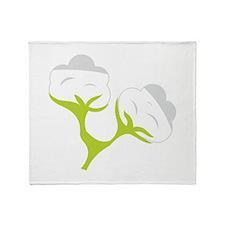 Cotton Flowers Throw Blanket