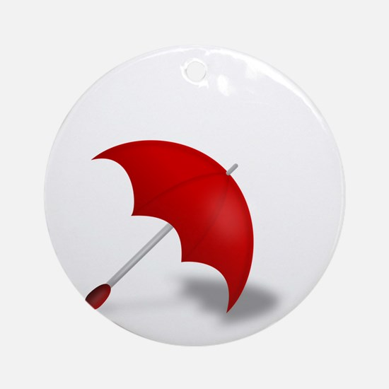 Umbrella red Round Ornament