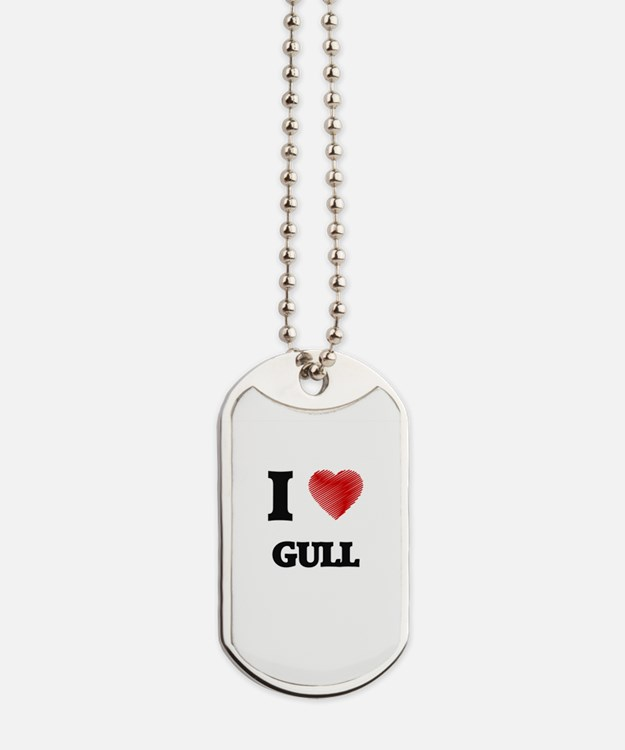 I love Gull Dog Tags
