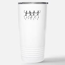 Dancing Skeletons Stainless Steel Travel Mug