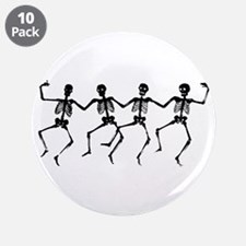 """Dancing Skeletons 3.5"""" Button (10 pack)"""