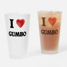 Funny I love gumbo Drinking Glass