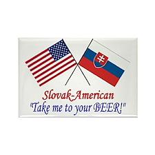 Slovak/American 1 Rectangle Magnet (10 pack)