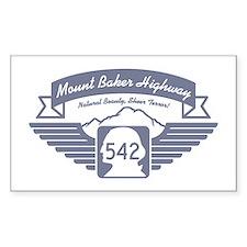 Mt. Baker Highway Rectangle Decal
