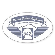 Mt. Baker Highway Oval Decal